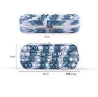 Tie Dye Sensory Pop Pen Bag Silicone Phone Straps Decompression Toy Fidget Game Controlller Pops Pencil Cases For School Students Gifts Simple Dimple Boxes