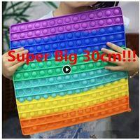 20/30 / 40 / 50cm !!! Super stor storlek push bubbla fidget leksaker autism behöver squishy stress reliever regnbåge vuxen barn rolig anti-stress fidget party cy15