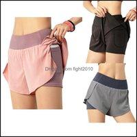 Yoga exercício desgaste atlético ao ar livre vestuário outdoorsyoga roupa senhoras secagem rápida ginásio shorts esportes aptidão exercício running drop Delive