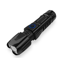 الذكية رقاقة للماء xhp50 عالية قوية قابلة للشحن الصمام مصباح يدوي الفانوس التكتيكية ضوء 26650 التخييم الصيد مصباح 207 W2