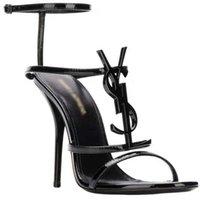Sandálias de Design de Luxo Sandálias Altos Sapatos Femininos Preto Salto Alto Vestido de Noiva com Caixa 35-41 Shoe10 1