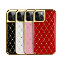 Luxury Designer Cell Phone Cases for iPhone 13 12 11 Pro Max Diamond Leather Back Case Cover