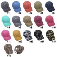 Léopard Animal Imprimer Pony-Bas de baseball Casque Croix Croix Coton Ball Capuchon Fashion Léopard Hautouche Hauts Somy Hat Party Hats 16styles RRA4163