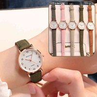 Designer Luxus Marke Uhren Einfache Vintage Frauen Kleines Zifferblatt Sweet Leather Strap Armband ES Geschenk
