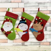Christmas Decorations 3 Pcs Stocking For Xmas Classic Decoration Fireplace Hanging Ornaments Holiday