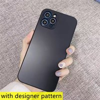 Fashion Skin-feeling designer phone cases for iphone 13 12 11 pro max XR XS 7 8 Plus All-inclusive anti-falling textured frosted Protective Shockproof cover case