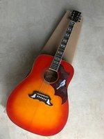 Yeni Varış 41 Inç Dove CS Akustik Elektro Gitar Fishman Ile EQ Kiraz Sunburst Gülağacı Klavye Ladin Vücut Üst Yüksek Kalite