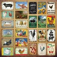 Oeufs frais grouses noires métal signe de vache boeuf poulet viande collection affiche peinture murale vintage peinture artisanale agricole décor yi-164