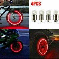 Interior&External Lights 4pcs Car Auto Wheel Tire Tyre Air Valve Stem LED Light Covers Accessories Kits Waterproof