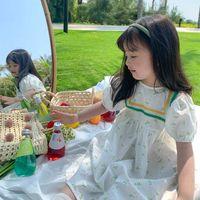 Bambini abbigliamento 2021 Abito da estate Bambini Bambini Flower Princess Style Style Gonna