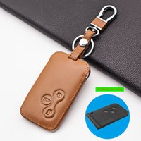 Leather 3 Button Smart Card Skin Protector Car Key Cover Case For Renault Clio Logan Megane 2 3 Koleos Scenic