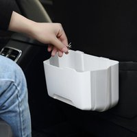 Car Organizer Folding Trash Can Storage Bin Seat Back Foldable Debris Bucket Auto Box Home Dual-use Stowing Tidying