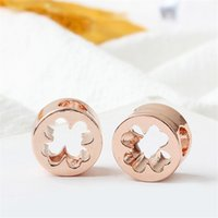 Hollow Luckey Clover Alloy Charm Bead Fashion Women Jewelry Stunning European Style Fit For Pandora Bracelet Necklace PANZA005-41