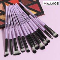 Pennelli per il trucco Magent Set 12pcs Kit pennello cosmico per occhio ombretto polvere ciglia sopracciglia labbra strumenti di bellezza trucco