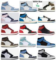 أفضل نوعية 1 TS شظية جامعة الأزرق الداكن موتشا أحذية كرة السلة الرجال 1 ثانية الجو مارينا الزرقاء hyper رويال شيكاغو bred تو تويست expelsian توربو الأخضر أحذية