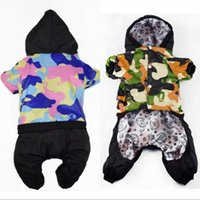 Dog Apparel 2021 Waterproof Fabric Jumpsuit Winter Clothes Dogs Pets Coat Thickening Down Jacket Clothing For Pet Costume