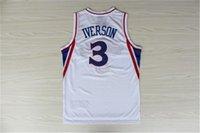 Allen 3 Iverson-Trikots Top Qualität Günstige Georgetown Hoyas Allen 3 Iverson Basketball Jerrsey College Universität Hemden Hemden Sticked S-XXL