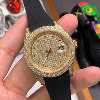 Orologio meccanico automatico da uomo Alla moda Diamante Diamante Polsino impermeabile Luminoso 40mm di alta qualità semplice lusso elegante