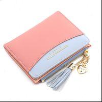 Sikke çanta deri kadın kısa fermuar öğrenci sevimli mini çanta küçük cüzdan anahtarlık cüzdan porte monnaie femme