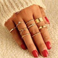 IPARAM Gold Щелевые кольца для женщин Урожай Сердце лук поворот пальца Кольцо 2019 Колэка женская Мода Ювелирные Изделия Свадебные подарки Q0708