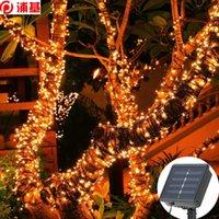 태양 스트립 빛 22m 200 LED 8mode 야외 조명 LED 문자열 요정 조명 웨딩에 대 한 방수 크리스마스 파티 정원 빛