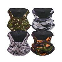 Echarpe en plein air Écharpe Magique Foldable Hommes Respirable Col Col Gaiter Protection anti-poussière Camouflage Camouflage Masque solaire Réutilisable 4 5YT N2