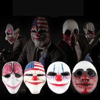 Newclown Mask Full Face Mask Maskerade Party Party страшные клоуны маски Payday Horror Mask Sprap Halloween Костюм косплей маски EWF7953