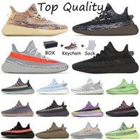 حذاء ركض رجالي من Adidas Yeezy Boost Yeezys مقاس كبير لنا 13 حذاء رياضي Mono Ice Mist MX Rock Oat للسيدات أحذية رياضية عاكسة Beluga