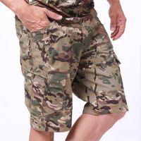 Homens Shorts Messenger Cargo Ripstop Ripstop Reg e Grandes Tamanhos Altos Mens Camo Relaxado Fit Multi-Bolso Ao Ar Livre Clássico Perfeito