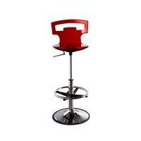 Möbel Moderner minimalistischer Stil Acryl maßgeschneiderter rotierender Barstuhl mit kurzen Rückenlehne kann angepasst werden