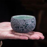 Cups & Saucers Creative Retro Coarse Pottery Master Cup Glaze Ceramic Teacup Kiln Change Tea Bowl Porcelain Office Drinkware Water Coffee Mu