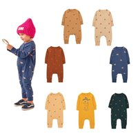 Jumpsuits TC Baby Romper Long Sleeve Rompers With Leg Little Kid Brand Clothes Boy Girl Designer Cotton Onesie One-piece