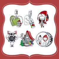 Bamoer 925 Sterling Silver Fairy Tale Little Red Riding Hood Forest Love Candle House Wolf Charm voor Original Armband DIY