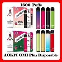 ORIGINALE AOKIT OMI PLUS Dispositivo di cigarette del dispositivo di pod monouso Kit 1600 sbuffi 800mAh Batteria 5.3ml Cartridge Preriellato Penna vape VS Cube 2