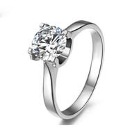 Tendance de la mode de luxe HBP NiuTou imitation diamant avec quatre griffes et support vide zircon anneau cuivre bijoux platine plaqué cuivre