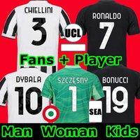 fans version joueur maillot de football 2021 2022 RONALDO DYBALA MORATA CHIESA McKENNIE maillot de football juventus 21 22 hommes enfants set chaussettes gardien de but