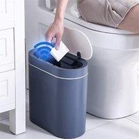 Smart Capteur Corbeille de Smart Capteur CAN ÉLECTRONIQUE Automatique Salle de bain Chambre Toilette Chambre à coucher Salon Étanche N Seam Bin 211009