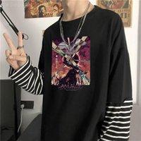 Camisetas para hombre Berserk Alternativa Alternativa Japón Anime Manga Hombres Camiseta Verano Harajuku Streetwear Tops Fashion Fake Fake Dos piezas de manga larga camiseta