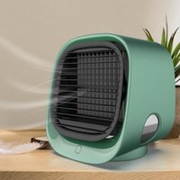 Electric Fans Air Cooler Fan Mini Desktop Conditioner With Night Light USB Water Cooling Humidifier Purifier Multifunction FAN8