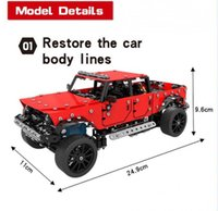 817PCS Technic RC Car Off-road Tracked Stunt Vehicle Remote Control Car Building Blocks Bricks DIY Toys Gifts For Children Kids Q0726