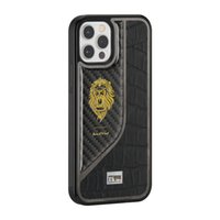Slim Thin Shockproof Protective Hybrid Hard PC Drop Protection Boys Men Phone Covers Black Carbon Fiber For iPhone 12 Pro Max Cases