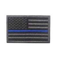 EUA bandeira militar manchas militares fronteira de ouro bandeira americana lron em patches applique jeans tecido adesivo patches para chapéu emblemas llf8842