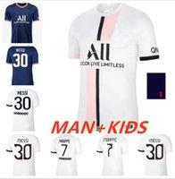 #30 MESSI Maillot de foot 2021 2022 paris soccer jerseys third home away blue white fourth SERGIO RAMOS 21 22 MBAPPE football shirt DI MARIA Man kids kit