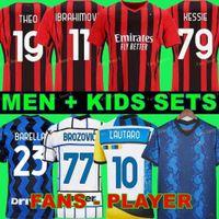 22 22 AC Milan Futebol Jerseys Ibrahimovic 2021 Kessie R.leo Theo Mandzukic Rebic Futebol Camiseta Donnarumma Goleiro Jersey Tonali Maglia da Calcio
