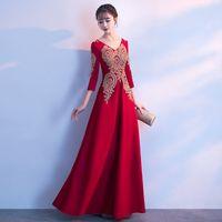 2021 robes de soirée longues officielles Bourgogne promane élégante robe junior