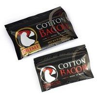 100% de algodón orgánico El nuevo algodón Bacon 2.0 Prime Gold Version para DIY RDA RBA Atomizadores Calefacción Bobina de alambre E Vaporizadores de cigarrillos