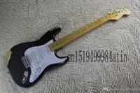 Stratocaster CUERDO CUADRADO CON TREMOLO SINCRONIZADO IMITACIÓN DE LA GUITRA ELECTRICA BLACK ONE BLACK @ 21