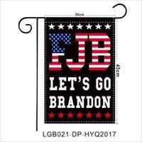 Let's Go Brandon 2022 Garden Flag 30x45cm USA President Biden FJB Outdoor Flags Yard Decoration American Flags Banner Ornaments 2024 Trump G01BY6L