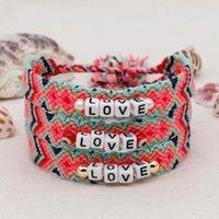 Charm Bracelets Shinus 2021 Braided Friendship Bracelet LOVE For Women Tassel Handwoven Cotton Thread Braclets Boho Jewelry