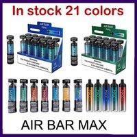 에어 바 최대 일회용 vape 펜 전자 담배 21 컬러 키트 1250mAh 18350 배터리 6.5ml 포드 2000 퍼프 vapes